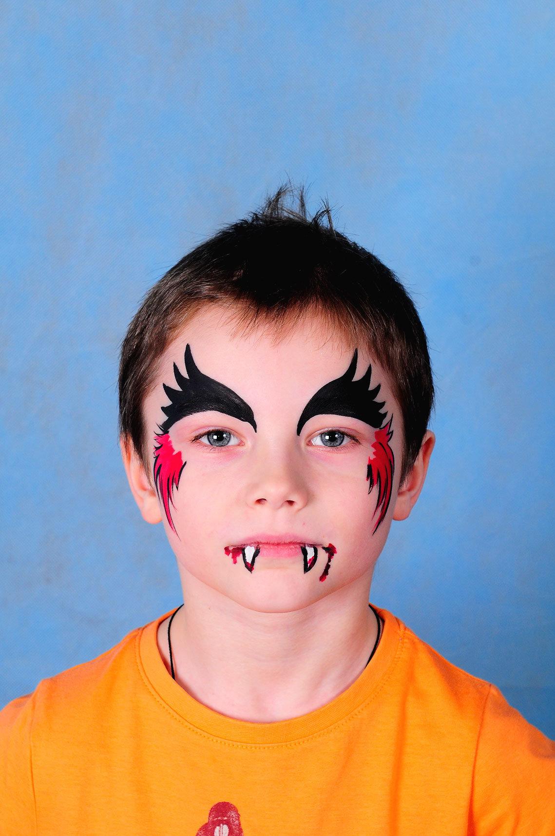 Смешные рисунки на лице для мальчиков
