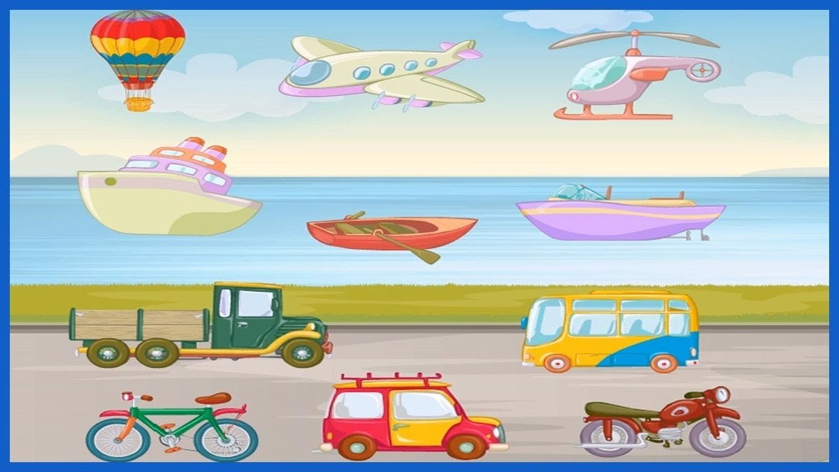 Картинки транспорта для дошкольников, днем свадьбы детей