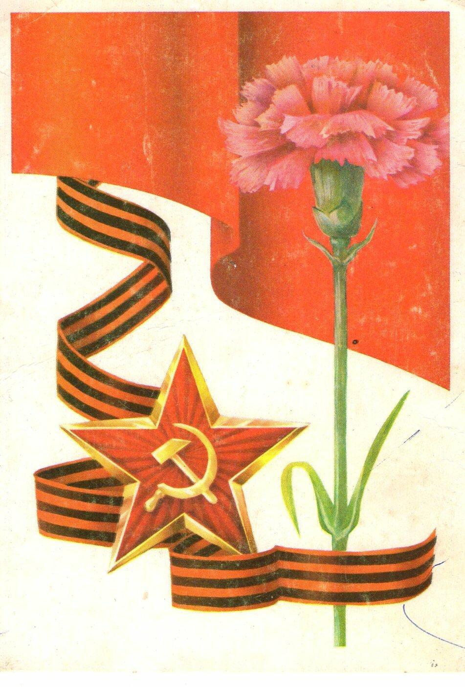 Для открытки, открытка на 9 мая гвоздики