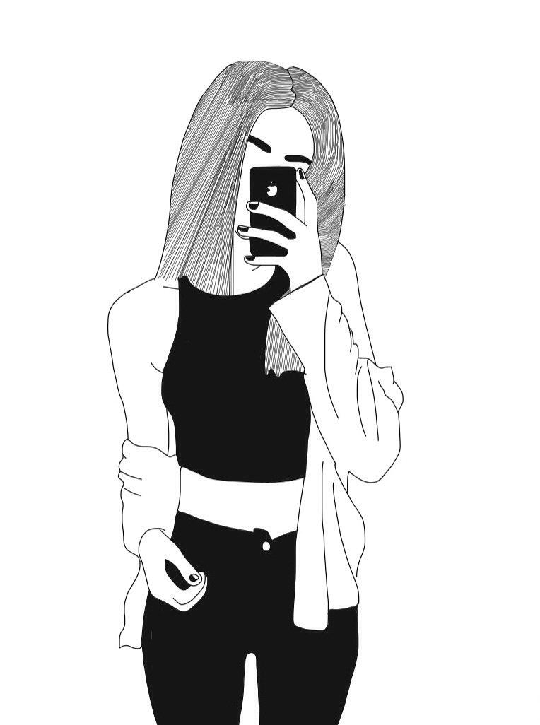 Тебя моя, черно-белые картинки для распечатки крутые для девочек