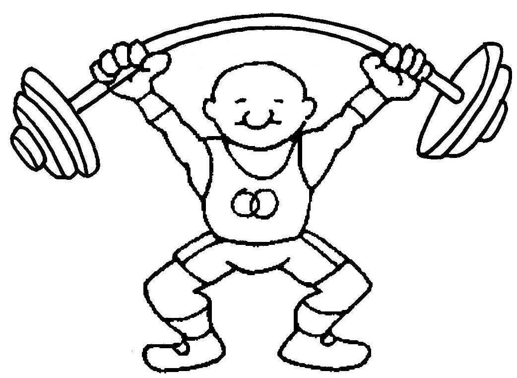 Рисунок учителя физкультуры карандашом