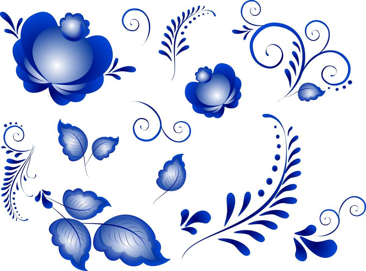 гжель картинки цветки фуганка стол
