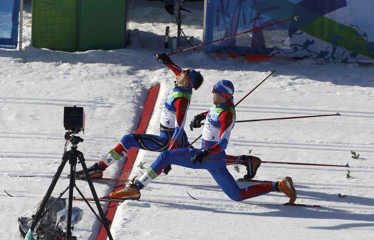Днем, смешные картинки двое на лыжах