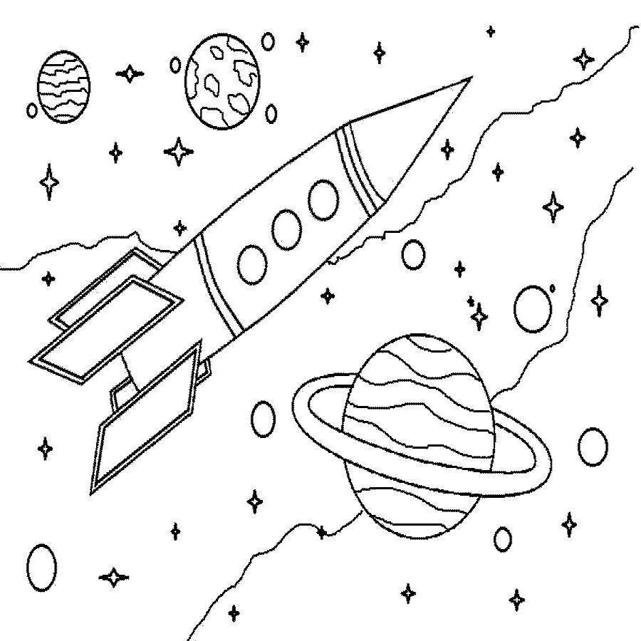 Открытка ко дню космонавтики нарисовать