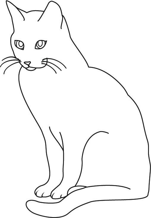 Картинки контур котята