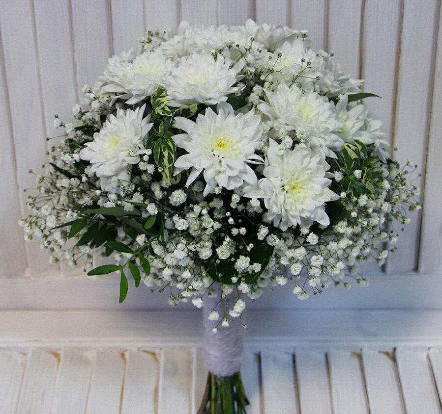 компании букет из белых хризантем фото салавата