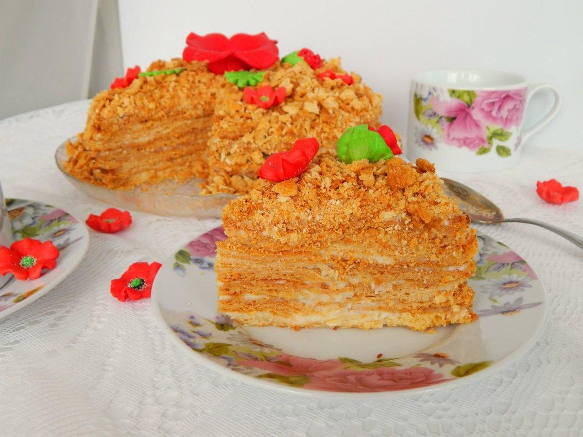 Медовый торт со сгущенкой рецепт с фото суровых