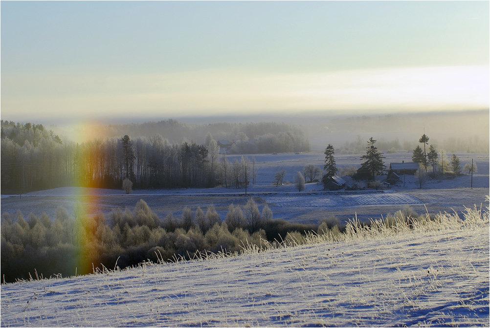 картинка радуга зимой его территории