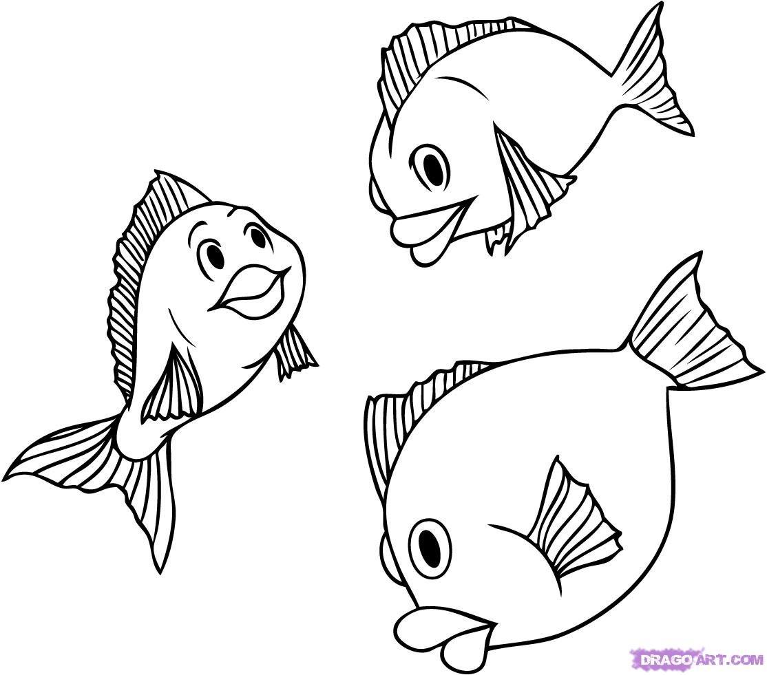 Рыбка картинки нарисовать