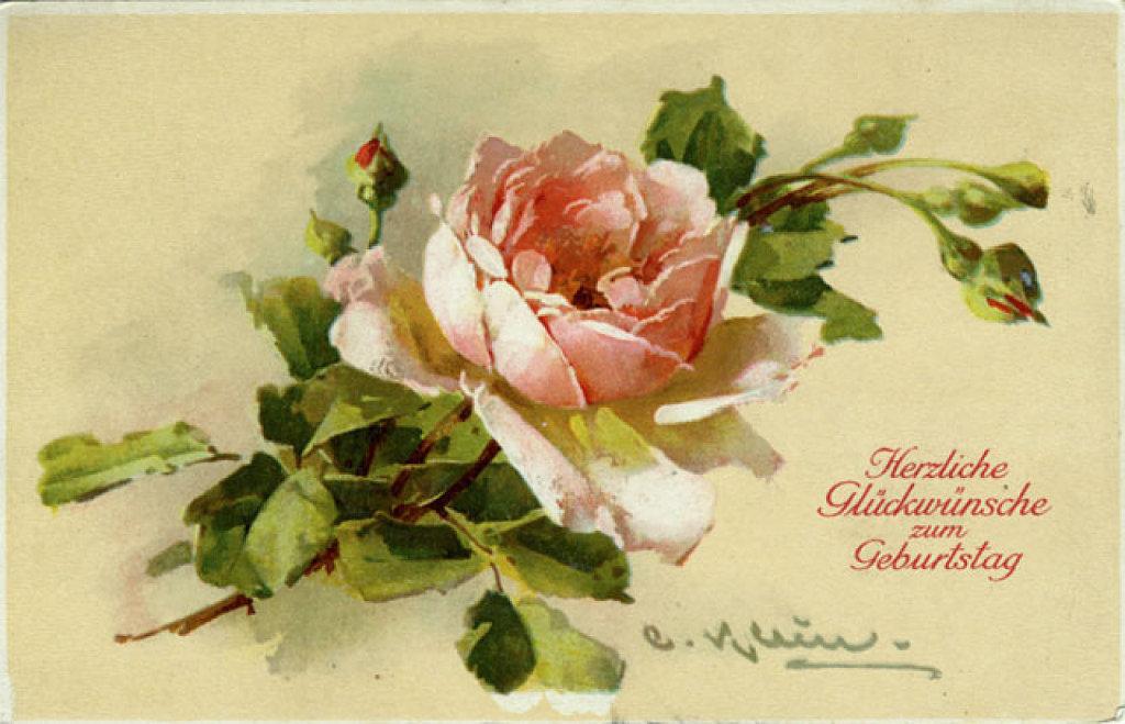 открытки под старину цветы даже