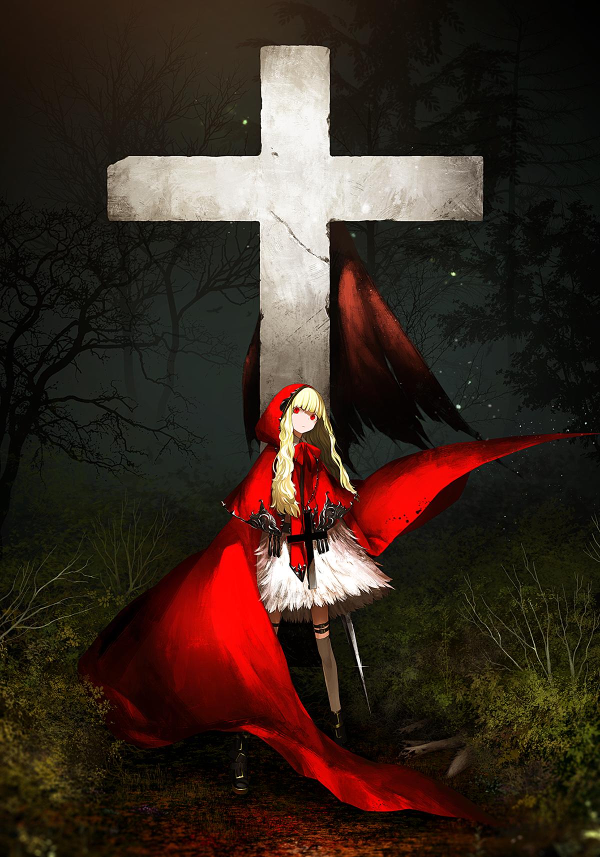 Аниме крест картинки