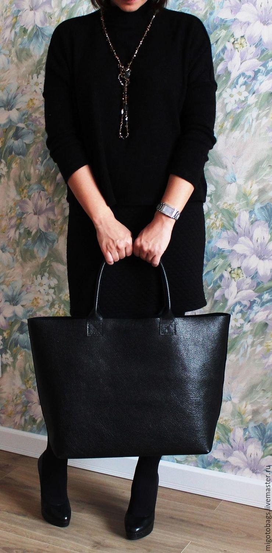 9d3be14e49a7 ... Кожаная сумка женская черная натуральная кожа большая сумка