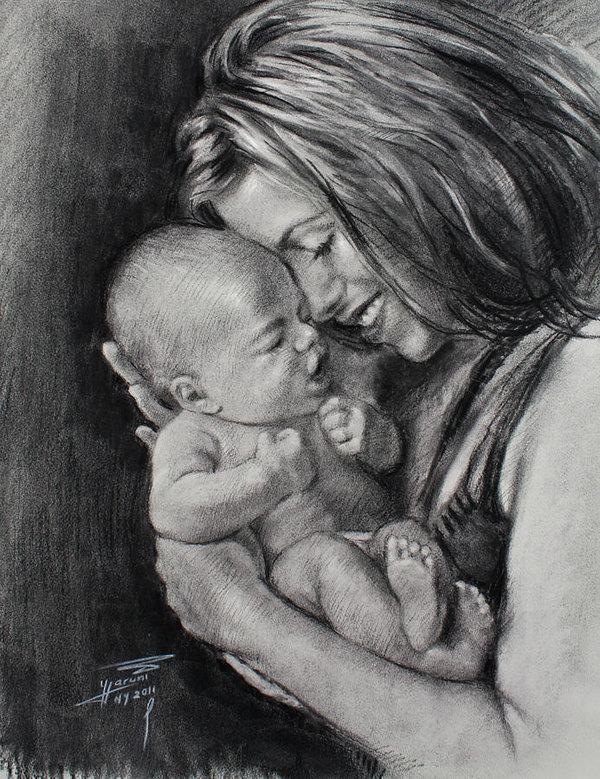 Мама с сыном картинки нарисованные, ссср смешные картинки