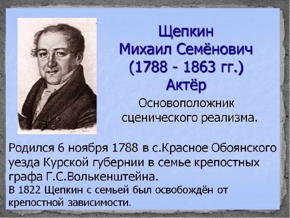 щепкин михаил семёнович фото