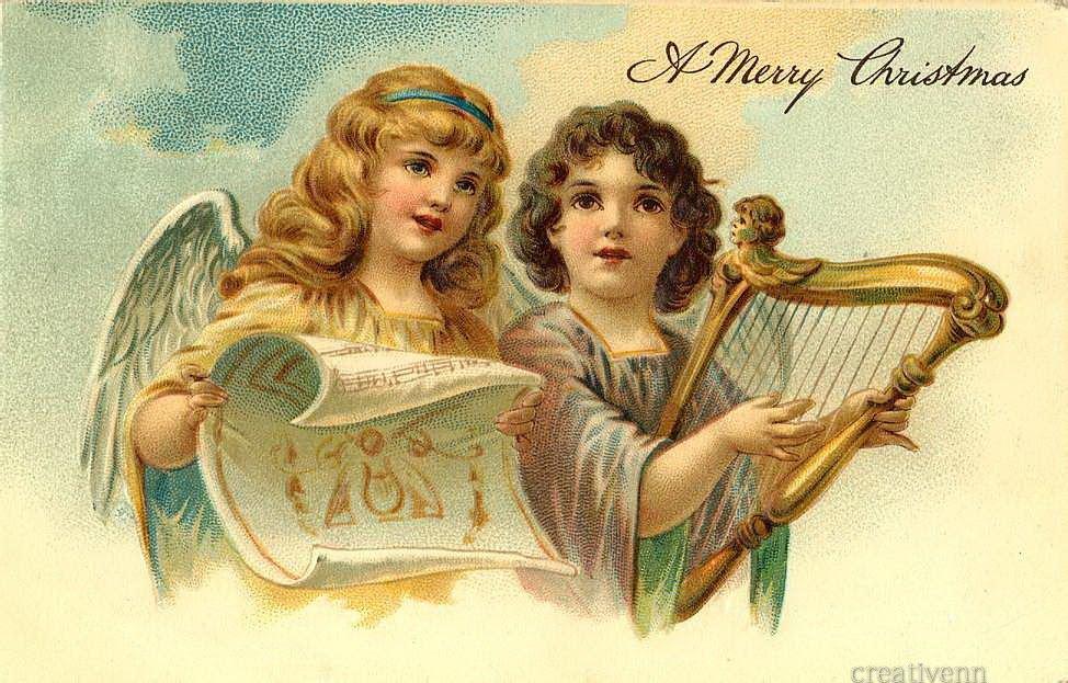 Старинные русские открытки с ангелами, картинки последний
