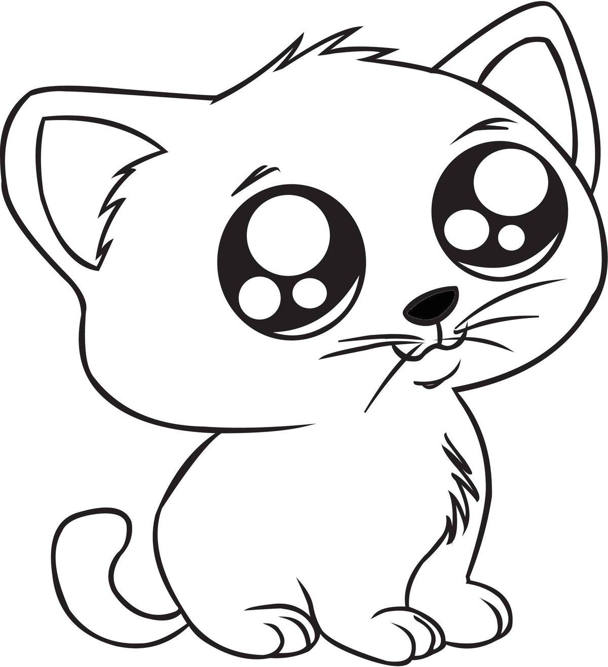 легкие картинки котиков срисования стоянку, где находятся