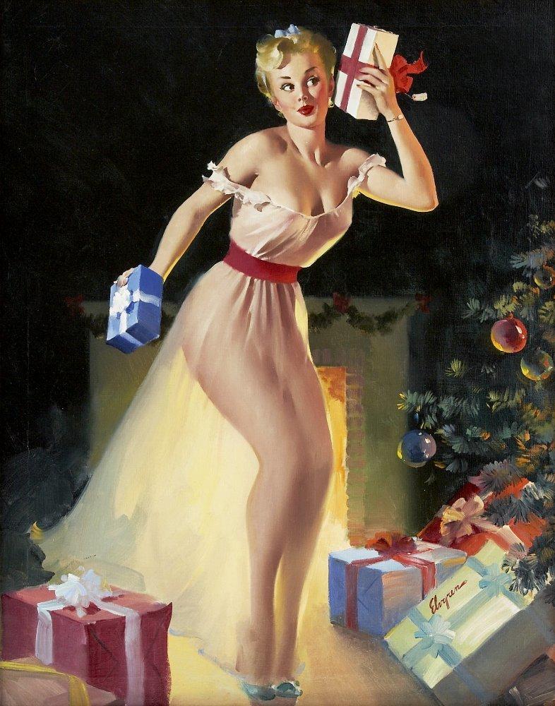 Фривольные открытки с новым годом
