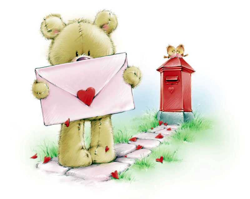 Картинки, мишка как на открытке