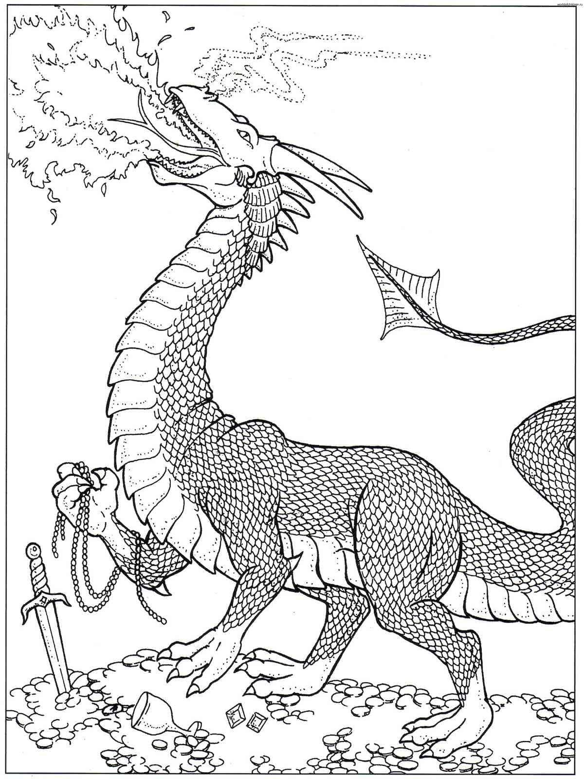 картинка раскраска динозавры и драконы овчарка продажа щенков