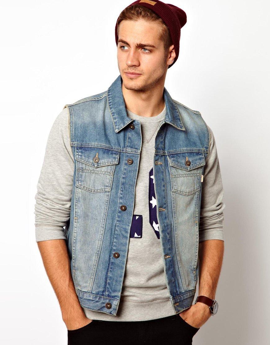 с чем носить мужскую джинсовую куртку фото компания перешла