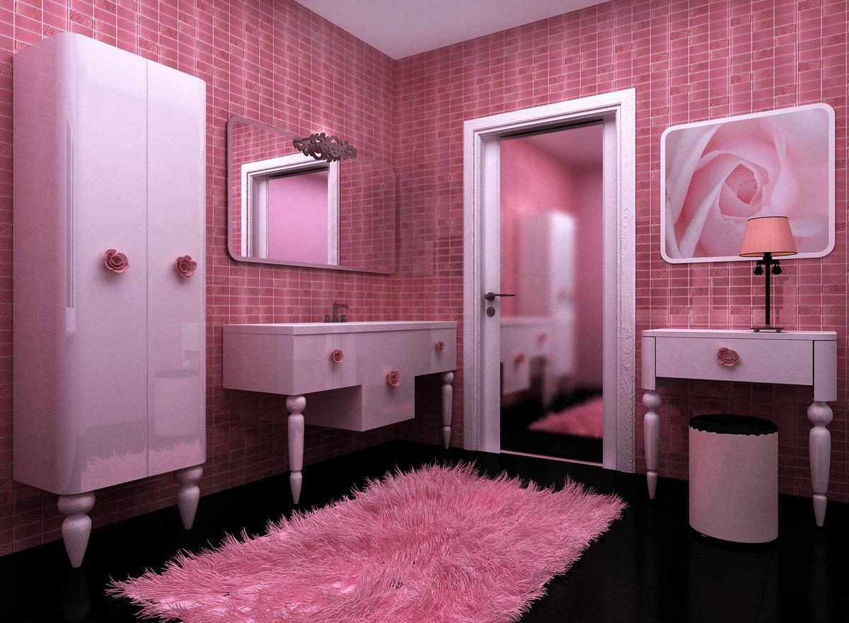 Розовая ванна картинки