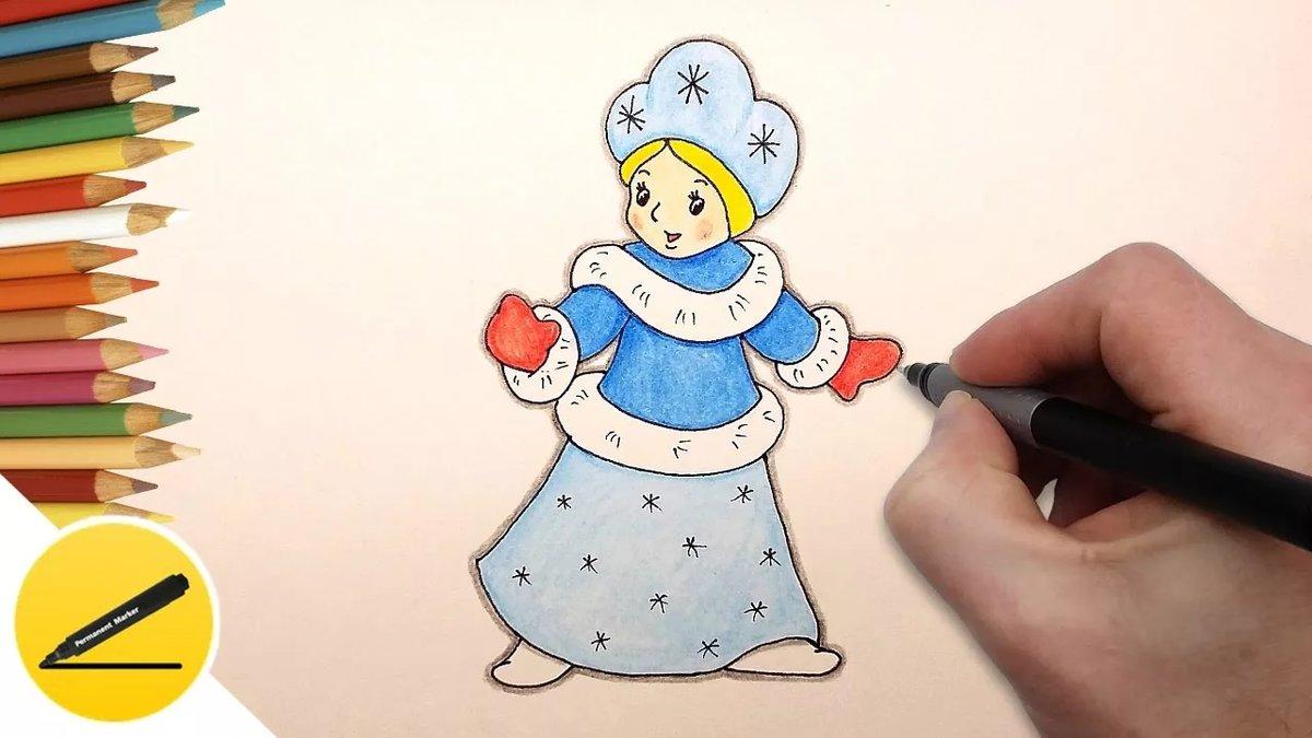 Уроки рисования новогодних открыток, картинки