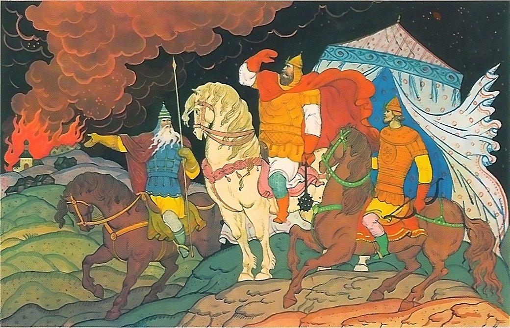Картинки к русским народным сказкам былинам