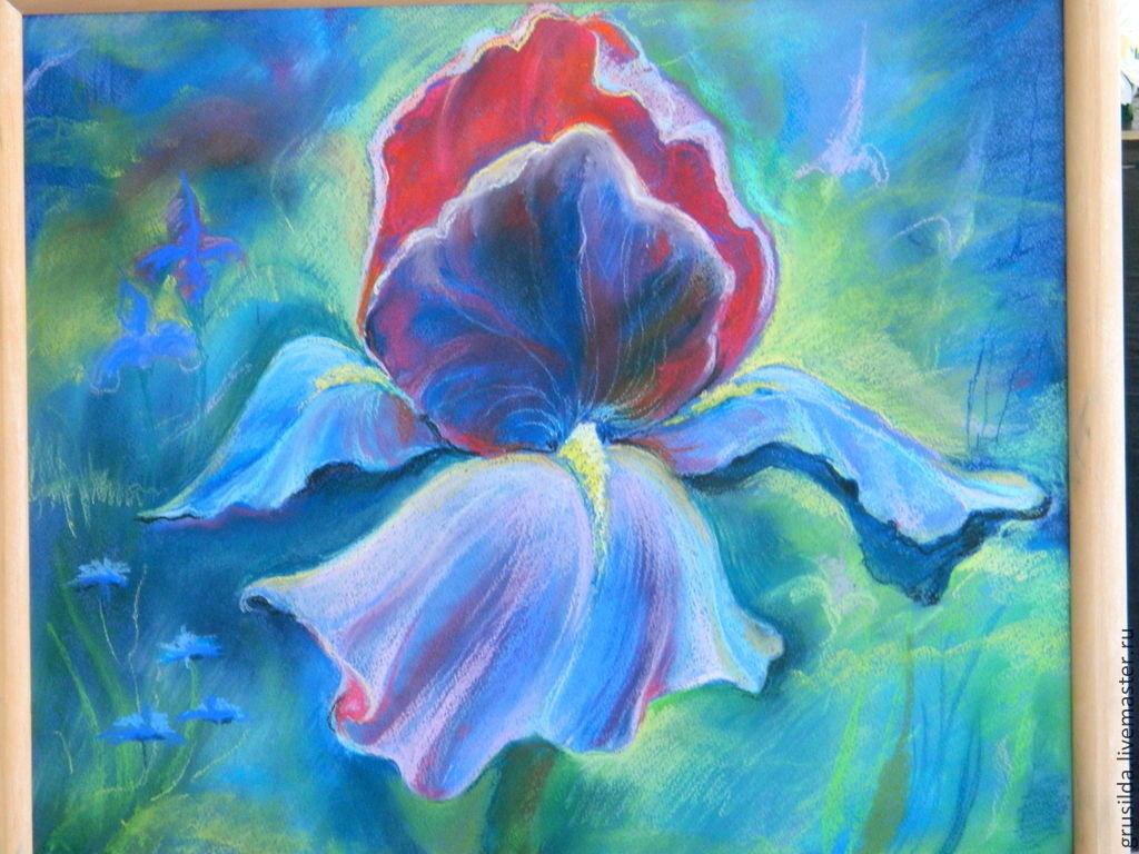Картинки из пастели цветы