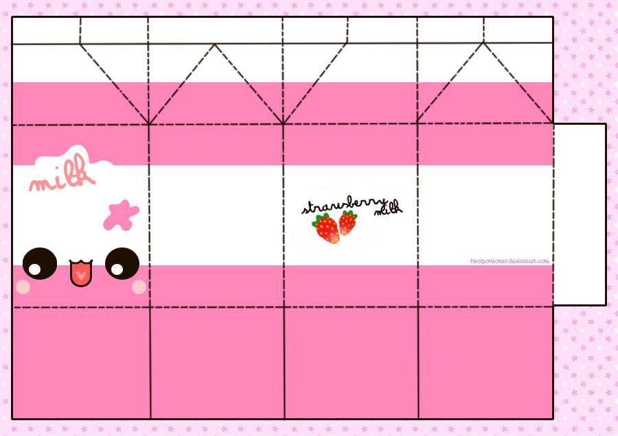 Printable Milk Carton Template Cute Papercraft Templates MIN\