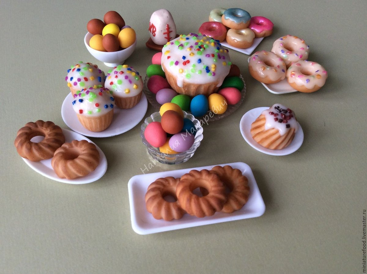 поделки из пластилина еда для кукол видео