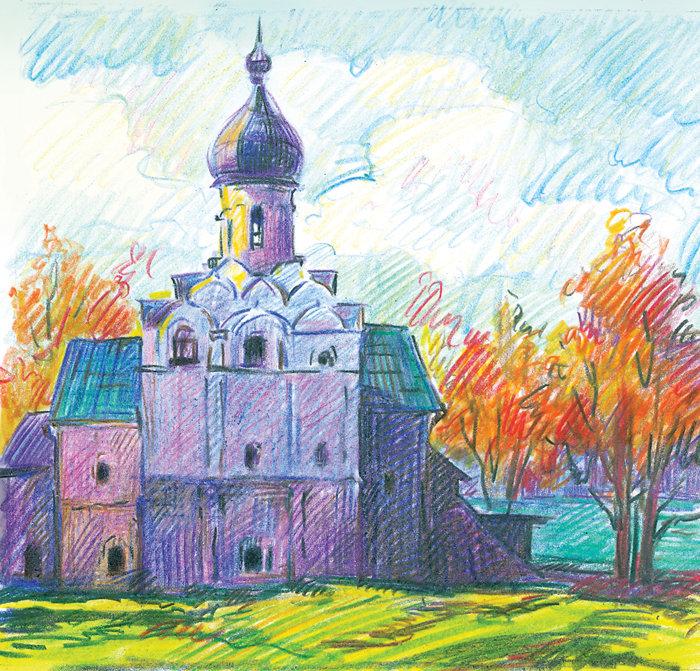 Картинки церквей и храмов для срисовки
