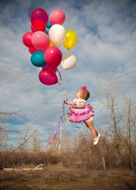 Картинка ребенок с шариками воздушными, доброго вечера