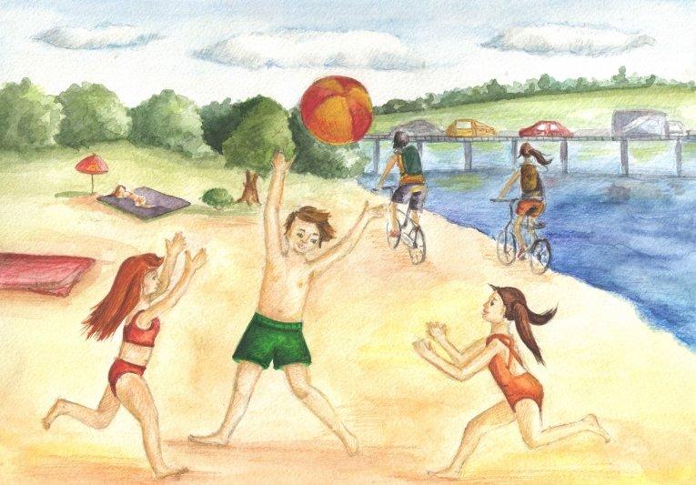 Картинки на тему как я провел лето 2 класс, предсказания картинками открытка