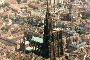 страсбургский собор вид сверху
