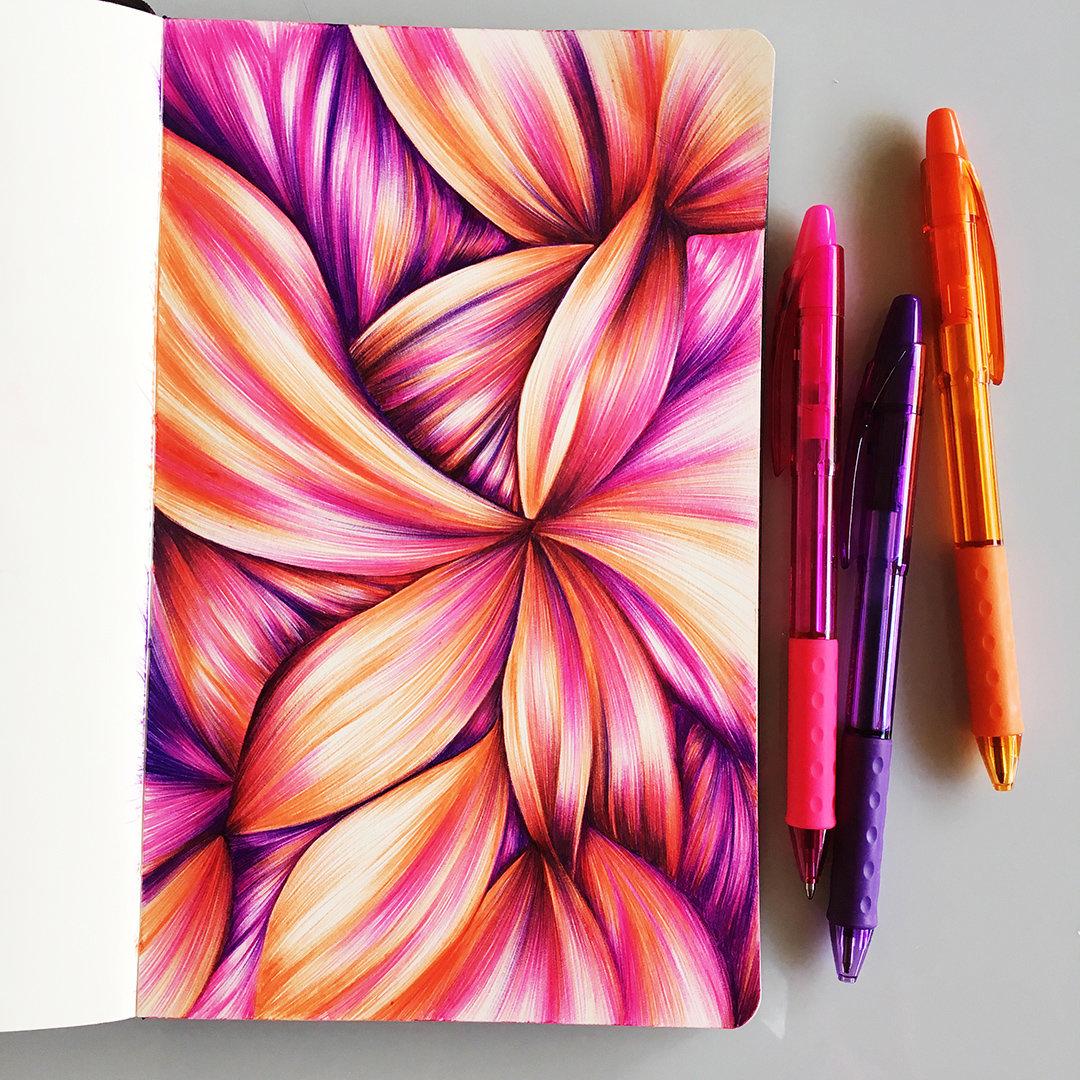 вашем прикольные рисунки цветными ручками большое качественную