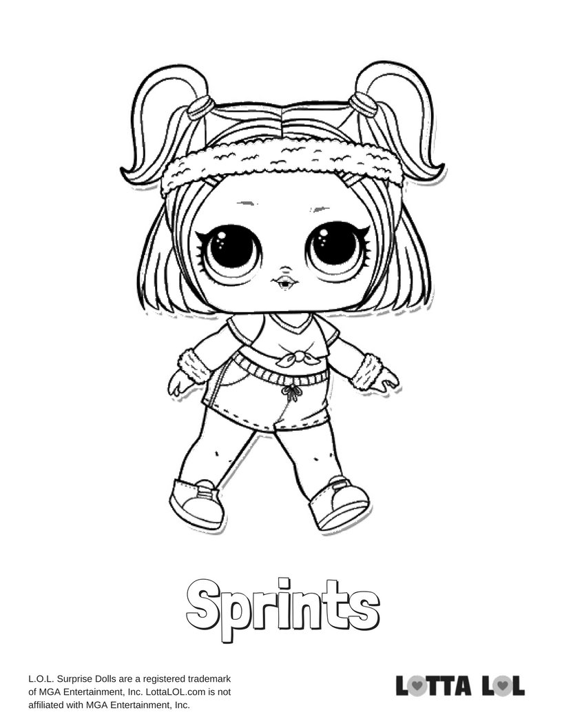 """""""sprints lol surprise doll coloring page lotta lol"""" — card"""