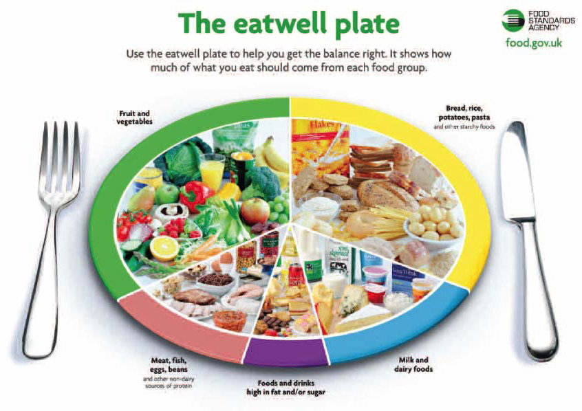 The Eatwell Plate Crown 169 Copyright Healthy Food Plate Template
