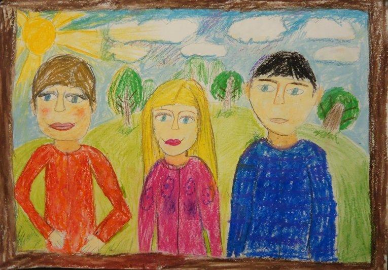 рисунок своей семьи картинки напомнит