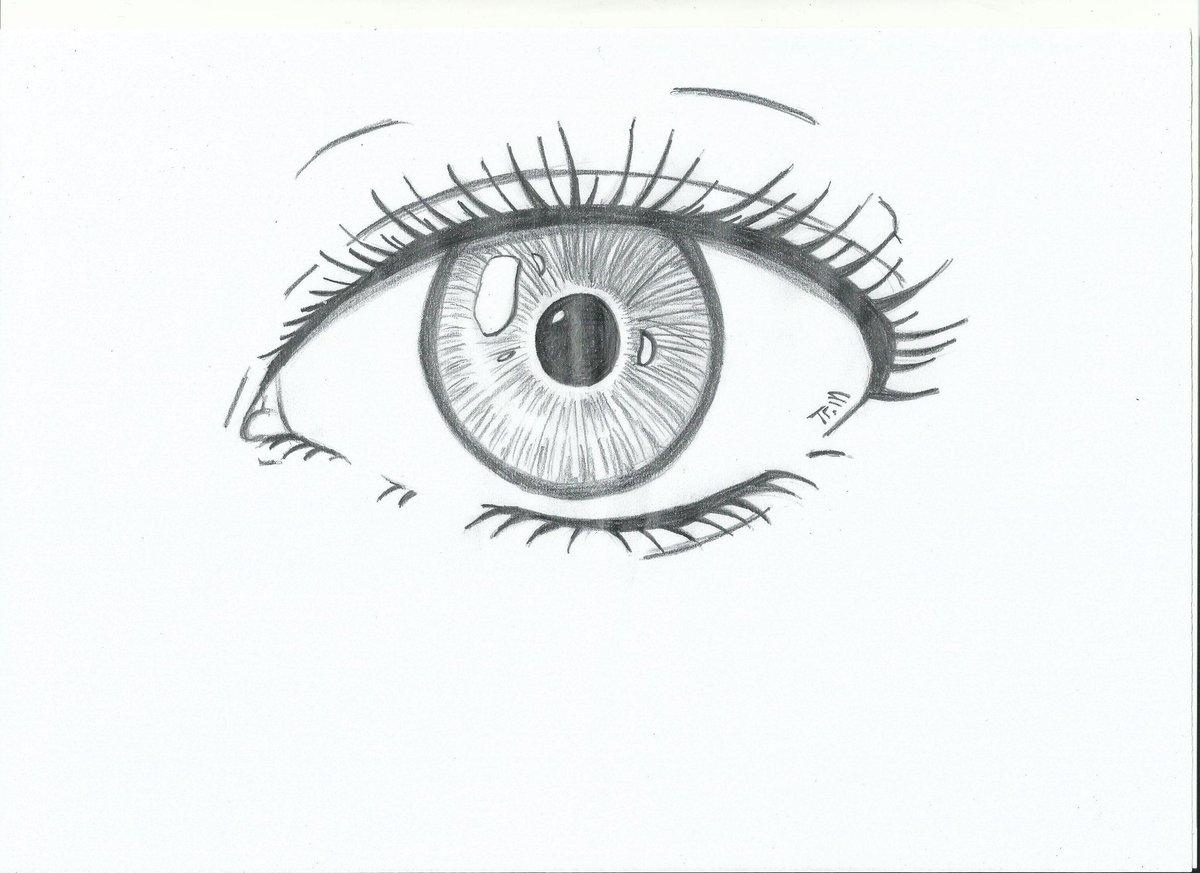 Картинки для срисовки глаза легкие