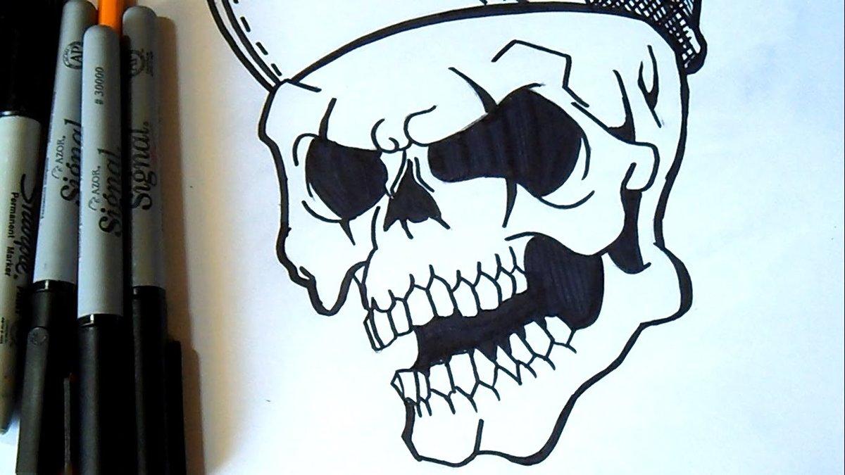 Крутые легкие рисунки маркером, подписать открытку день