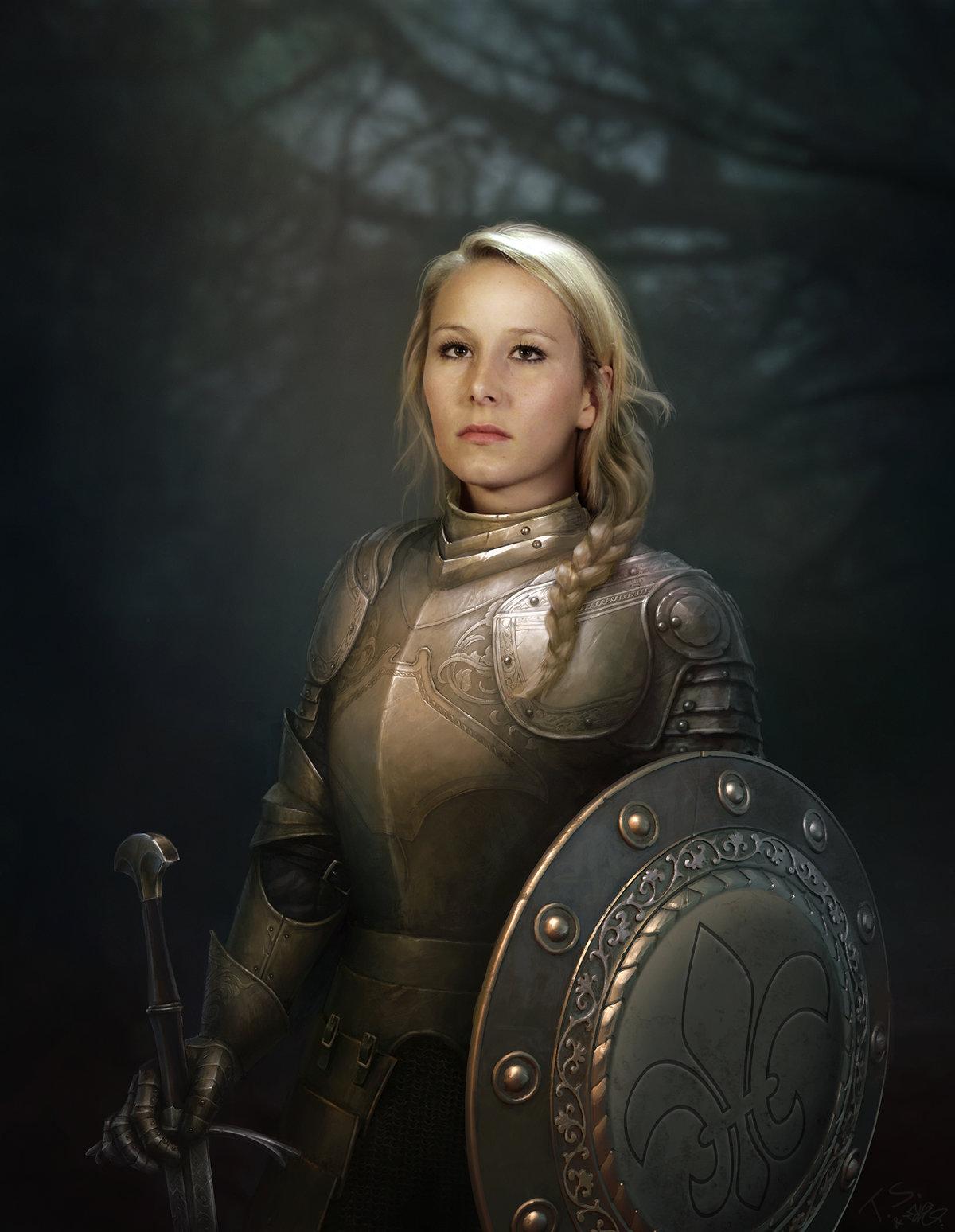 Картинки девушки с мечом и щитом