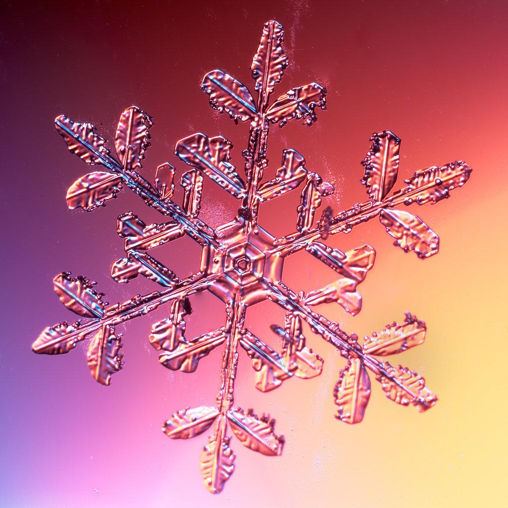 Волшебные снежинки в картинках