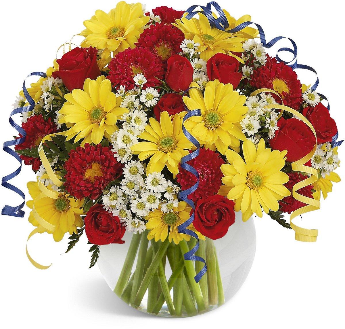 Яркий букет цветов для девушки