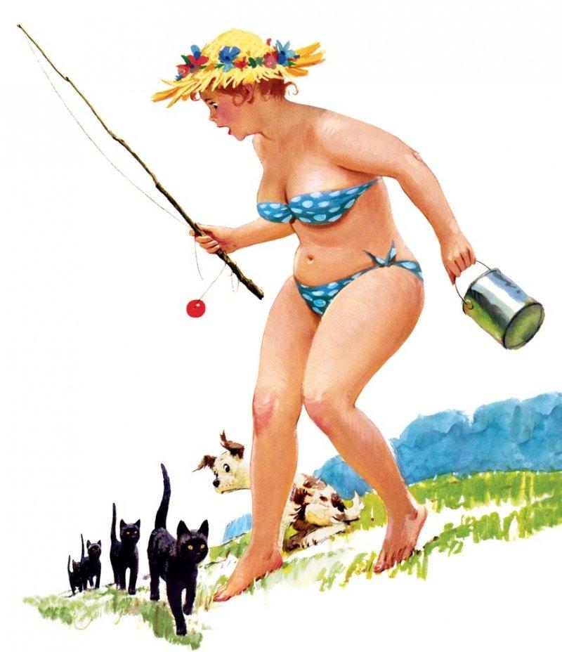 Женщина на рыбалке картинки прикольные, матрешек