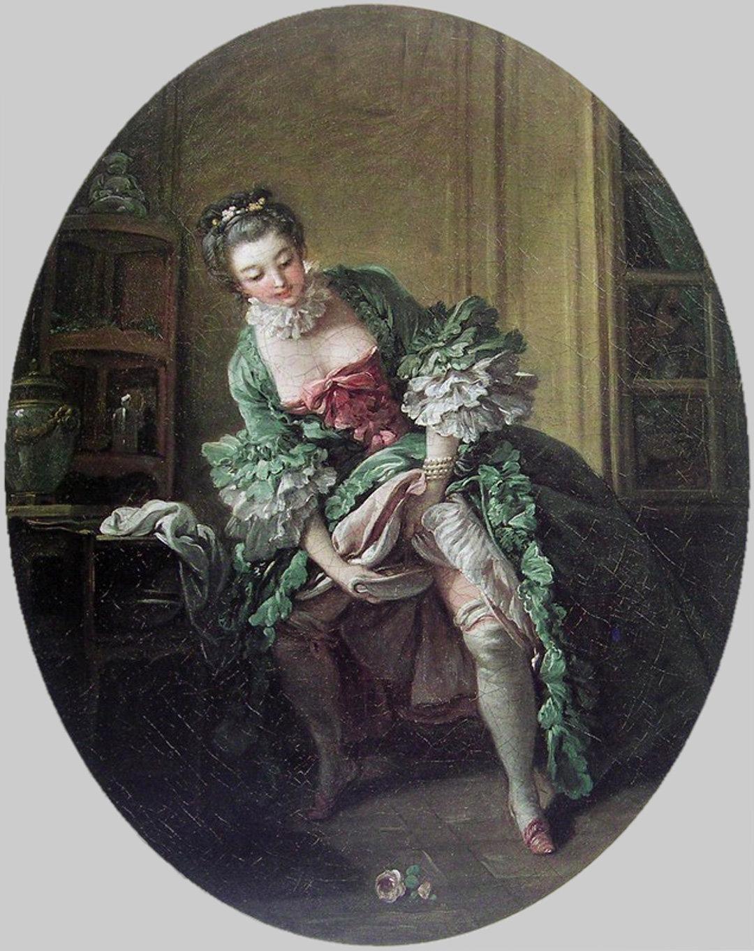 Субботний вечер, фривольные картинки 19 век