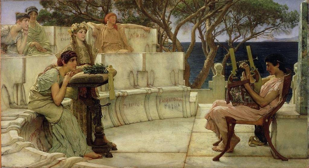Сапфо и Алкей (Лоуренс Альма-Тадема, 1881)