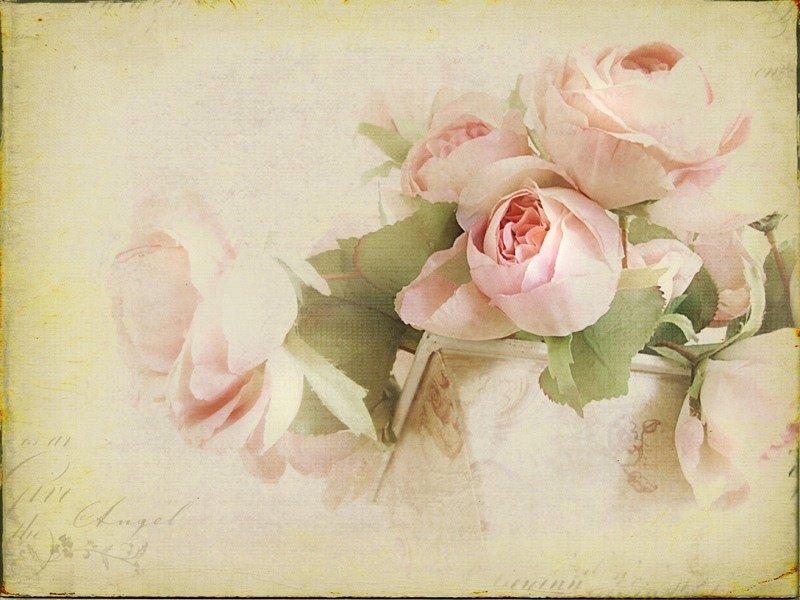 Ретро картинка с цветами