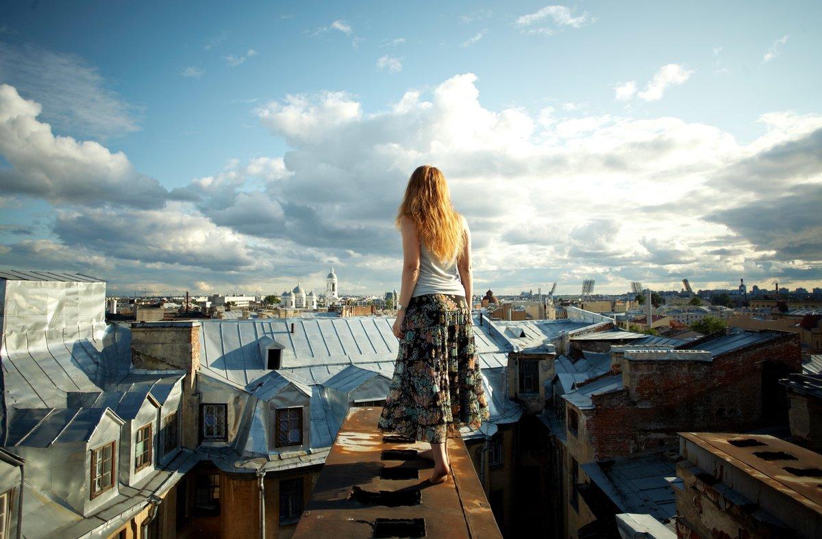 Камерой секс красивая фотосессия на крыше