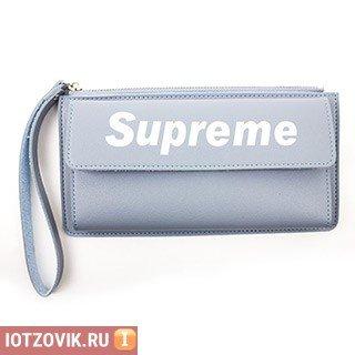 c65432ca25ee ... Купить женский кошелек LOUIS VUITTON Кошелек Supreme на молнии, цвет  черный в интернет-магазине