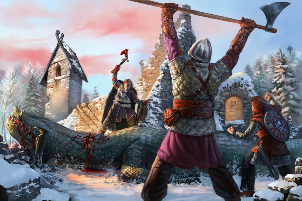 Воин с севера открытка, четверг